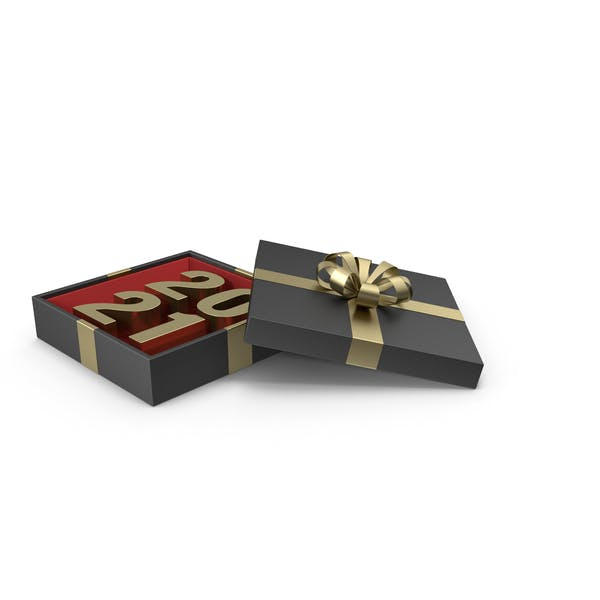 Thumbnail for Gold Symbol 2021 in Black Gift Box with Gold Ribbon