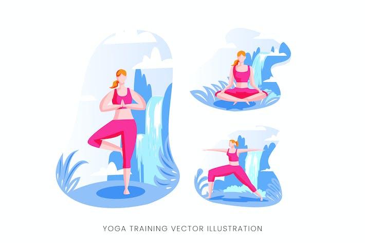 Thumbnail for Yoga Training Vector Character Set