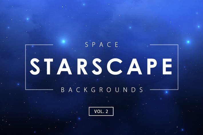Cover Image For Space Starscape Backgrounds Vol. 2