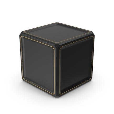 SciFi Cube Gold Schwarz