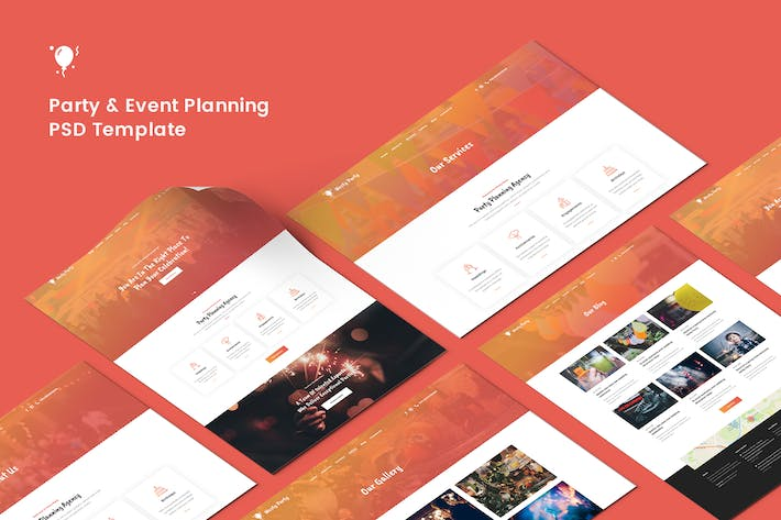 Thumbnail for Party & Event Planning PSD Template