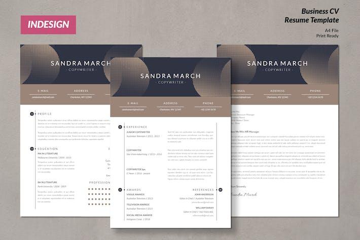 Thumbnail for Creative Copywriter CV Resume Template Vol. 53