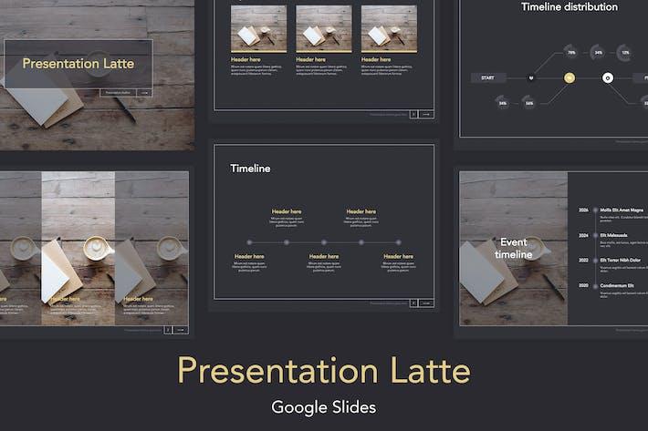 Thumbnail for Latte Google Slides Template