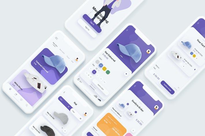Thumbnail for Meg - Fashion Store Mobile App UX, UI Template