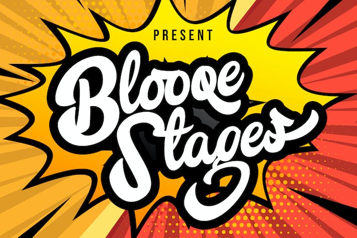 Thumbnail for Blooqe Stages | Fuente de escritura en negrita