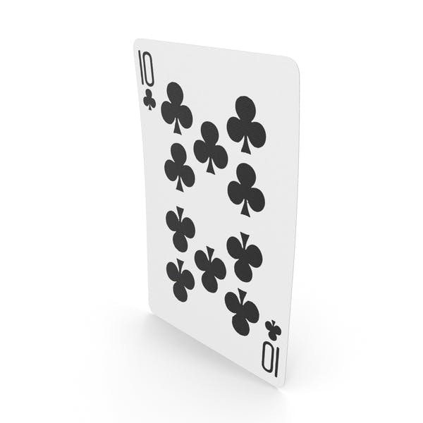 Playing Cards 10 Clubs