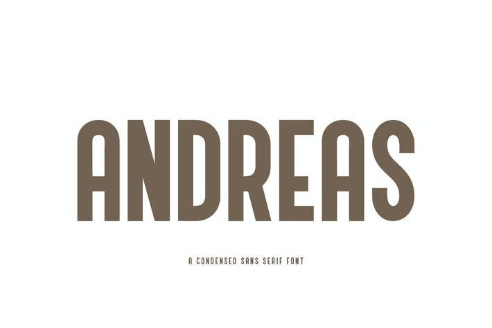 Thumbnail for Andreas - A Condensed Sans Serif Font YR