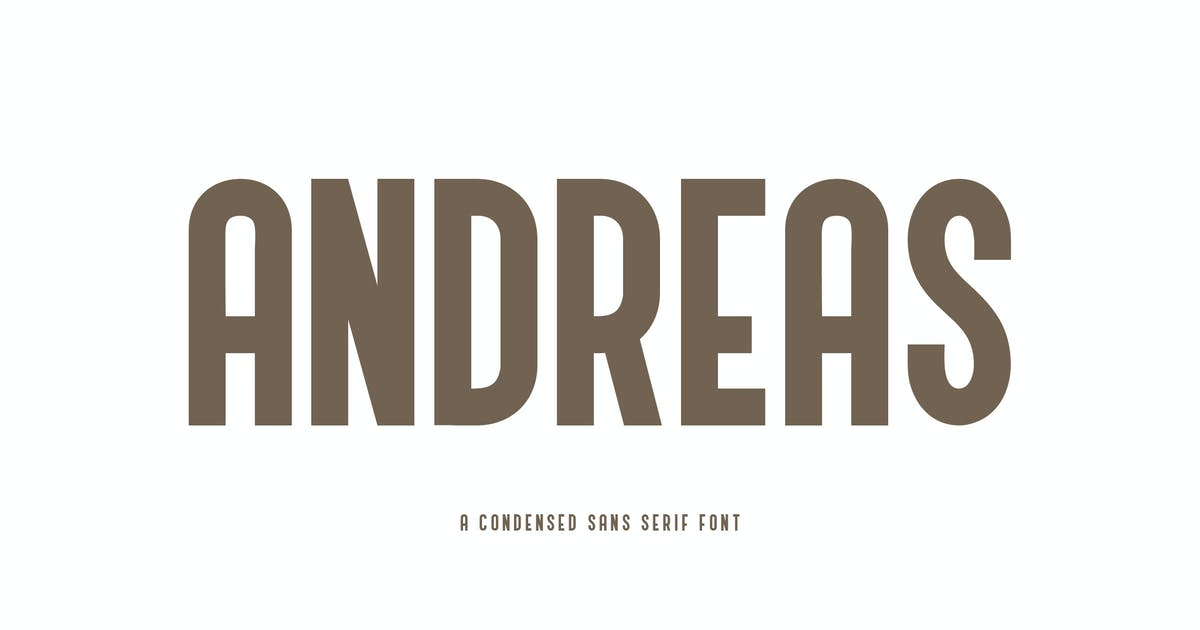 Download Andreas - A Condensed Sans Serif Font YR by Rometheme