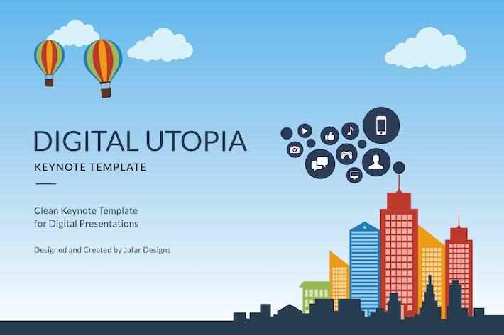 Thumbnail for Keynote Vorlage für digitale Utopie