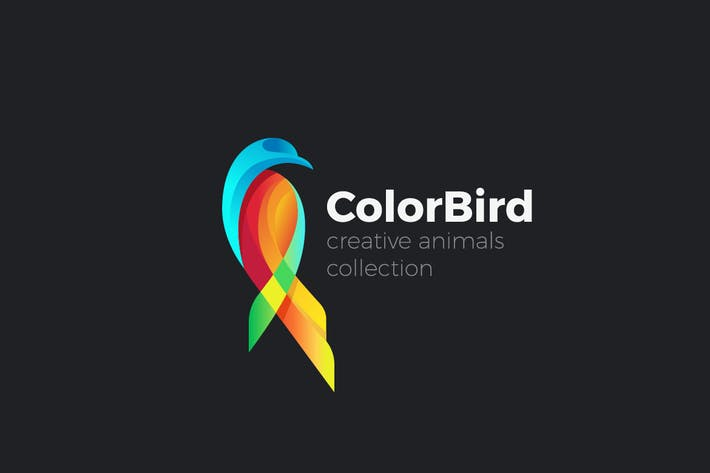 Thumbnail for Logo Colorful Bird Parrot abstract