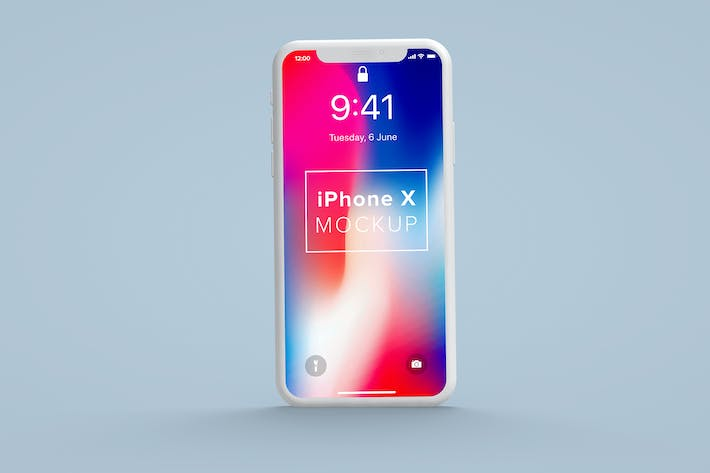 Thumbnail for iPhone X Front Clay Mockup