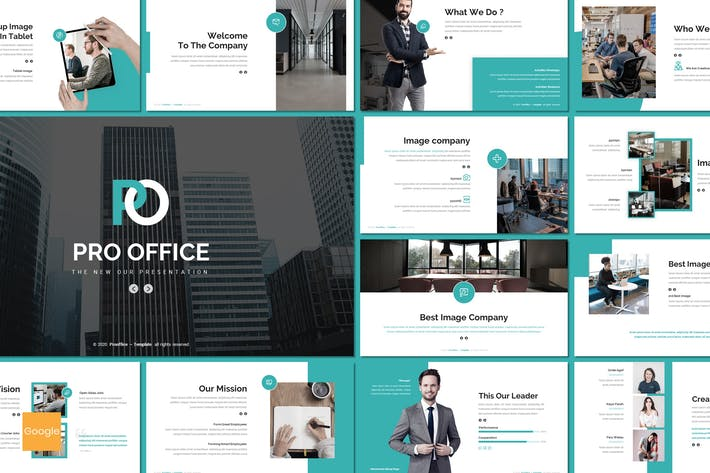 Thumbnail for Pro Office - Business Google Slides Template