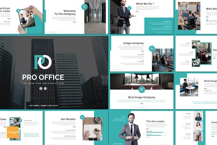 Thumbnail for Pro Office - Бизнес Google Слайды Шаблон