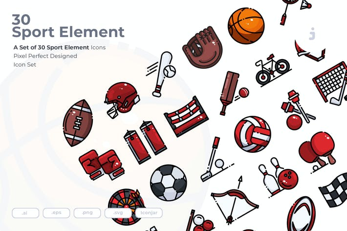 Thumbnail for 30 Sport Element Icons