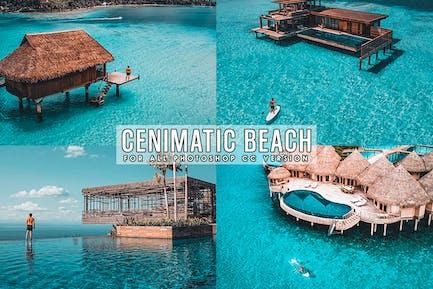 Кинематографическая Beach Photoshop Действия