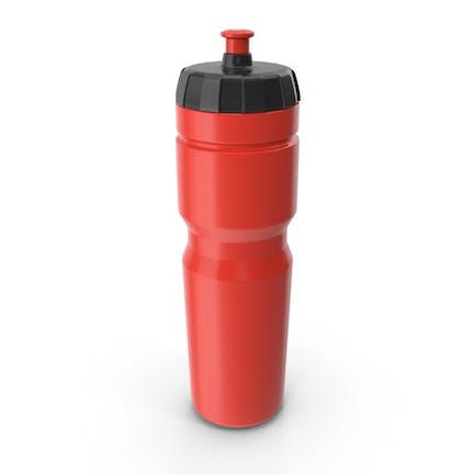Botella deportiva roja
