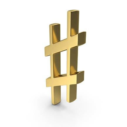 Scharfes Zeichen Symbol Logo Symbol