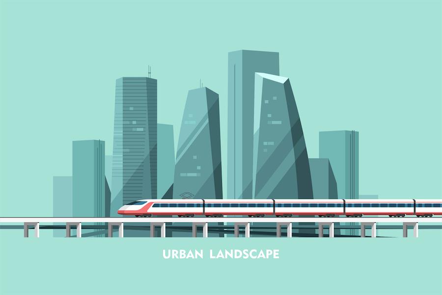 Stadtbild Hintergrund Stadtlandschaft