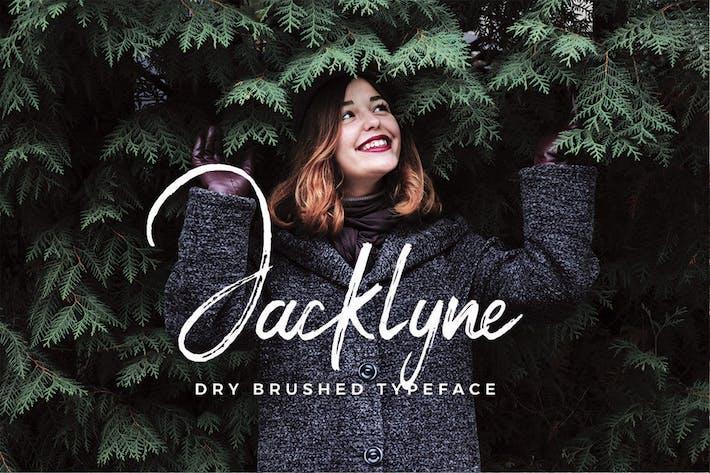 Jacklyne - Tipo de letra de cepillo seco