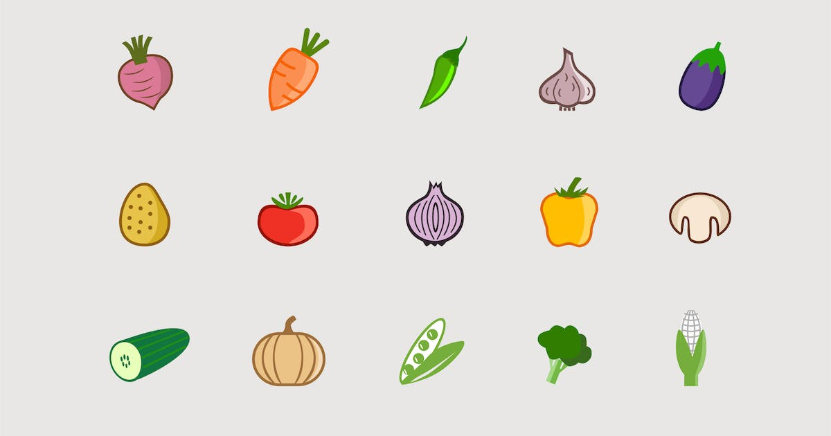 Download 15 Vegetable Icons by creativevip