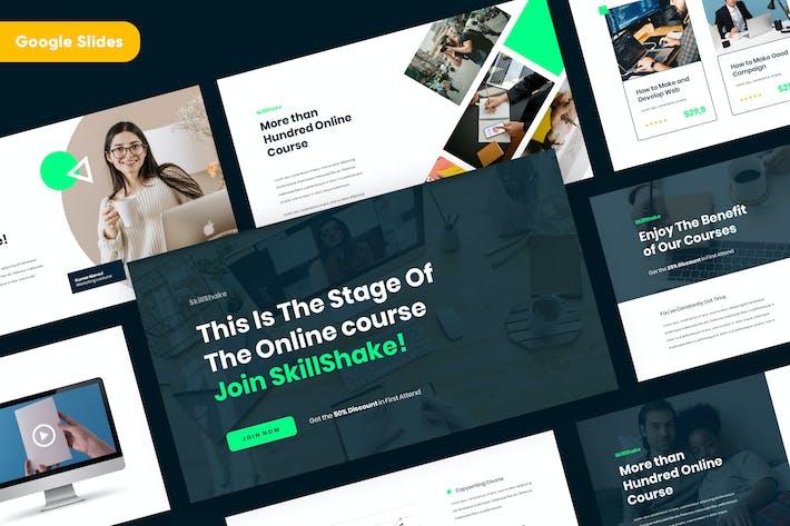 Thumbnail for SKILLSHAKE - Online Course Google Slides Template