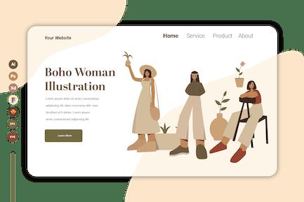 Boho Woman Vol 4  - Landing Page Template