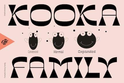 Kooka Font - Divertido familia groovy