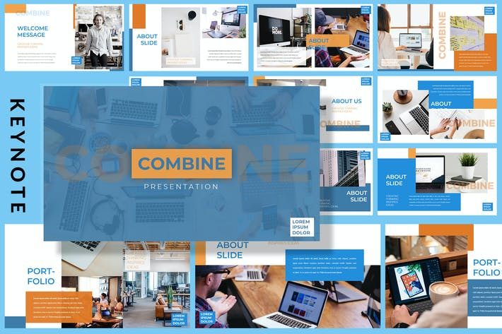 Thumbnail for Combine Office - Business Keynote Template