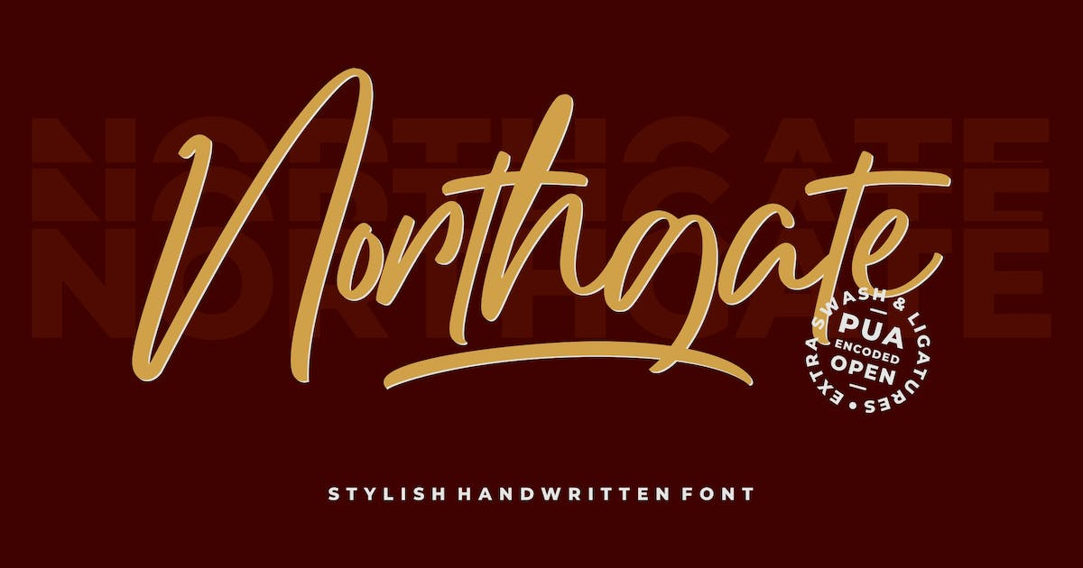 Download Northgate - Stylish Handwritten Font by StringLabs