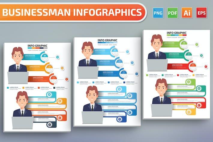Thumbnail for Infographies de l'homme d'affaires