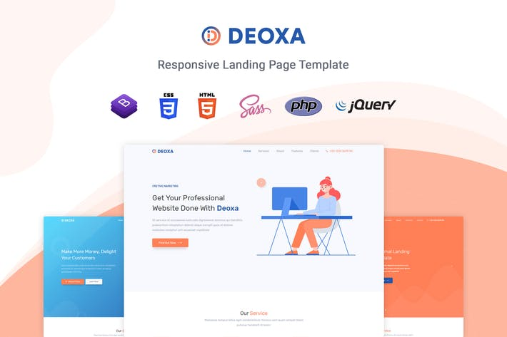 Thumbnail for Deoxa - Landing Page Template