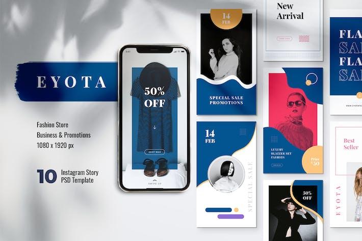 Thumbnail for EYOTA Fashion Store Instagram Stories