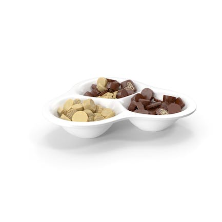 Compartment Bowl with Chocolate Truffles