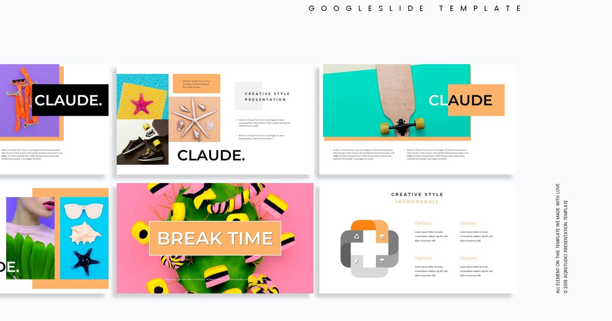 Claude - Google Slides Template by aqrstudio
