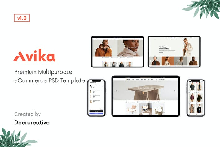 Thumbnail for Avika | Multipurpose eCommerce PSD Template