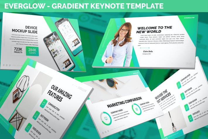 Thumbnail for Everglow - Gradient Keynote Template