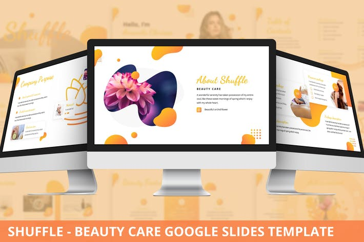 Thumbnail for Shuffle - Beauty Care Google Slides Template