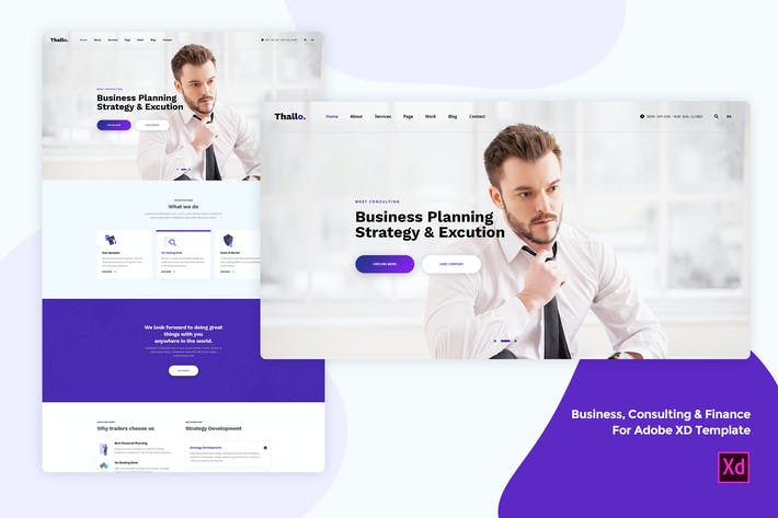 Thumbnail for Business & Finance for Adobe XD template
