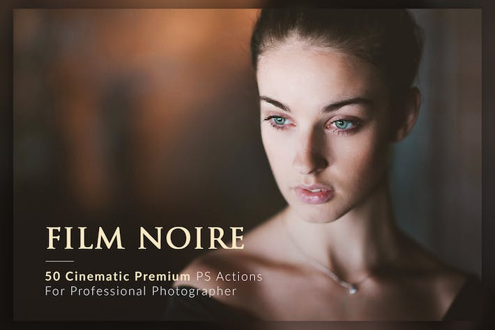 Thumbnail for 50 Film Noire PS Actions Bundle