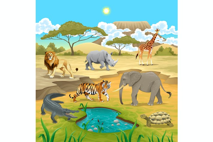 Thumbnail for African Animals in the Nature
