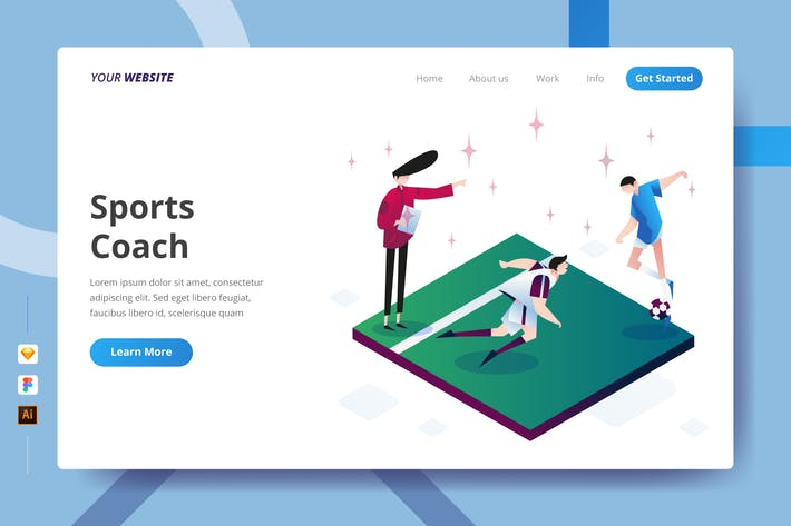 Thumbnail for Sports Coach - Landing Page