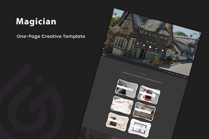 Thumbnail for Magician - Responsive Parallax Template