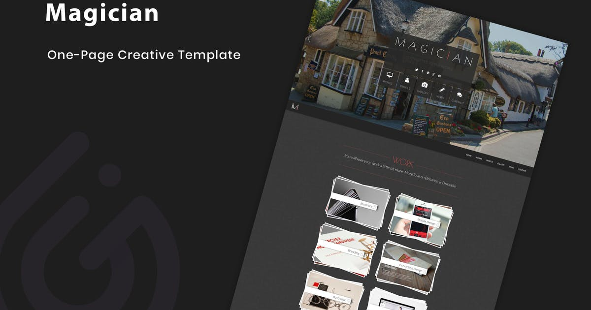 Download Magician - Responsive Parallax Template by IG_design