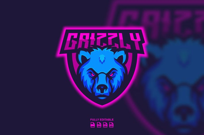 GRIZZLY LOGO TEMPLATES