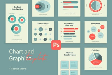 Charts & Graphs Instagram Templates for Fashion V1