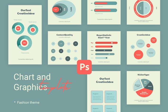 Thumbnail for Charts & Graphs Instagram Templates for Fashion V1