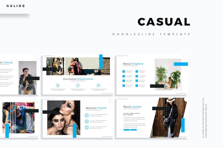 Cover Image For Casual - Google Slide Template