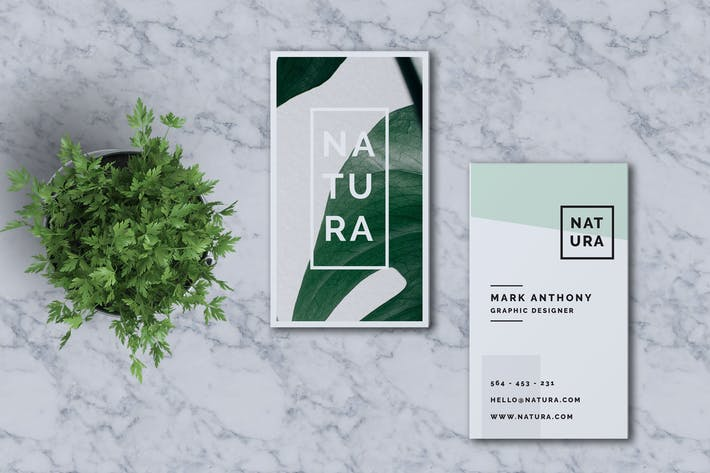 Thumbnail for NATURA Business Card Template