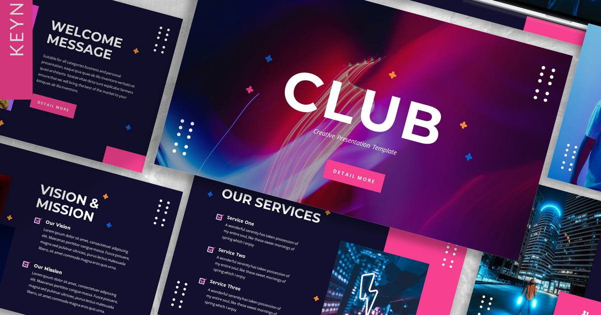 Download Club - Creative Keynote Template by designesto