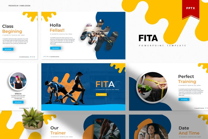 Thumbnail for Fita | Powerpoint Template